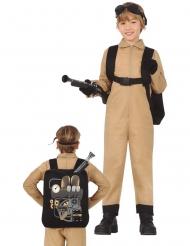 Costume da cacciatore di fantasmi con zaino per bambino