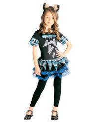 Costume lupo mannaro blu bambina