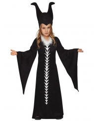 Costume matrigna nera bambina