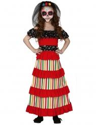 Costume messicano dia de los muertos per bambina