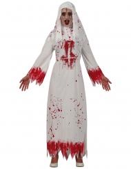 Costume suora insanguinata con croce donna