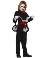 Costume bambola su triciclo bambino