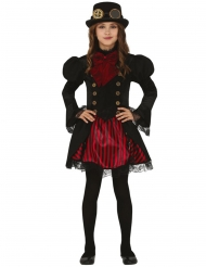 Costume Steampunk glamour rosso bambina