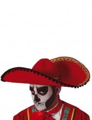 Sombrero rosso Dia de los Muertos