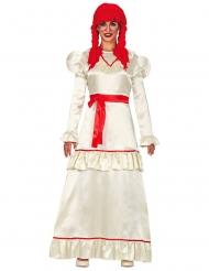 Costume bambola di pezza malefica per donna
