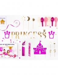 Kit decorazioni per compleanno Principessa rosa
