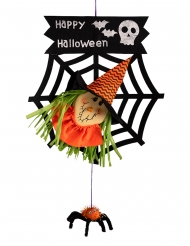 Decorazione strega Happy Halloween 50 cm