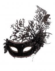 Maschera nera con fiori donna