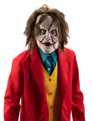 Maschera da clown sfigurato con parrucca per adulto