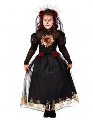 Costume sposa nera dia de los muertos per bambina