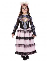 Costume sposa in rosa Dia de los muertos per bambina