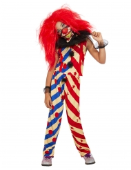 Costume creepy clown bicolore per bambina