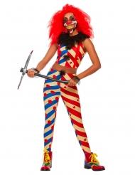 Costume creepy clown donna