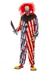 Costume creepy clown bicolore per uomo