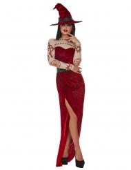 Costume strega rossa satanica donna