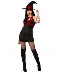 Costume strega satanica sexy nero donna