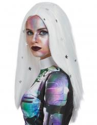 Parrucca bianca cosmica per donna