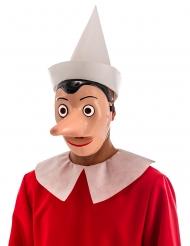 Maschera di Pinocchio™ con naso amovibile per adulto