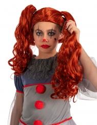 Parrucca clown con codine bambina