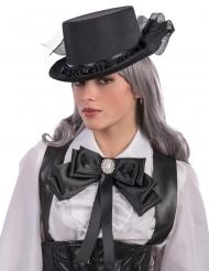 Fiocco nero con medaglione per donna