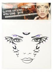 Adesivi per viso donna pipistrello