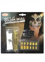 Kit trucco scheletro dorato adulto