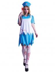 Costume infermiera insanguinata con calze donna