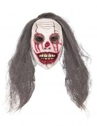 Maschera clown insanguinato con capelli