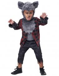 Costume lupo mannaro grigio bambino