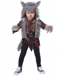 Costume lupo mannaro grigio bambina