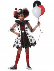 Costume clown spaventoso bambina