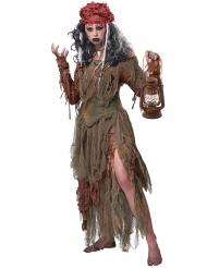 Costume strega vudù dello stagno donna