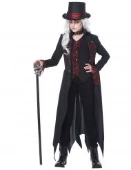 Costume vampiro gotico nero bambina