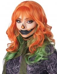 Parrucca rossa e verde per donna
