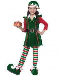 Costume da elfo di babbo natale per bambina