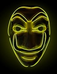 Maschera da rapinatore led giallo adulto
