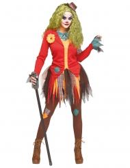 Costume clown attaccabrighe per donna