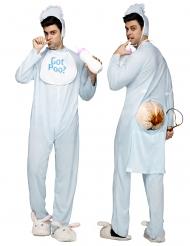 Costume da bebè con cacca per adulto