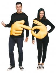 Costume di coppia ok e dito puntato per adulto