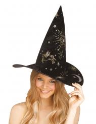 Cappello da strega con costellazioni adulto
