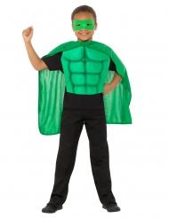 Kit super eroe verde bambino