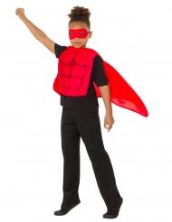 Kit super eroe rosso bambino