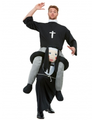 Costume prete sulle spalle di suora adulto