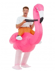 Costume grande fenicottero rosa adulto