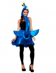 Costume pavone blu adulto
