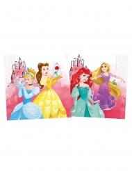 20 Tovaglioli in carta compostabile Principesse Disney™ 33 cm