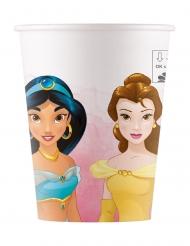 8 Bicchieri in cartone compostabile Principesse Disney™ 200 ml