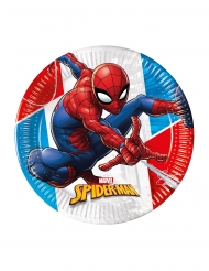 8 Piatti in cartone compostabile Spiderman™ 23 cm
