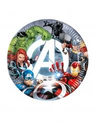 8 Piatti in cartone compostabile Avengers™ 23 cm
