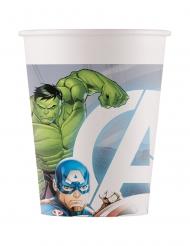 8 bicchieri in cartone compostabile Avengers™ 200 ml